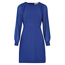 Buy Louche Detton Chiffon-Sleeve Dress, Blue Online at johnlewis.com