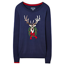 Buy Joules Festive Intarsia Jumper, Navy Online at johnlewis.com