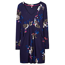 Buy Joules Lizzie Empire Line Jersey Tunic, Navy Floral Online at johnlewis.com