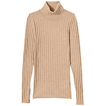 Buy Winser London Ribbed Roll Neck Merino Jumper Online at johnlewis.com