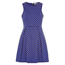 Buy Louche Syreta Geo Print Dress, Blue/Black Online at johnlewis.com