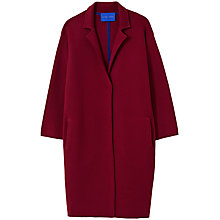 Buy Winser London Milano Wool Single Breasted Coat, Burgundy Online at johnlewis.com