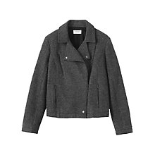 Buy Toast Bolied Wool Biker Jacket, Grey Online at johnlewis.com