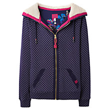 Buy Joules Leaton Hooded Sweatshirt, Navy Spot Online at johnlewis.com