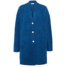 Buy Toast Boiled Merino Wool Coat, Blue/Black Online at johnlewis.com