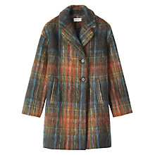 Buy Toast Mohair Check Coat, Multi Online at johnlewis.com