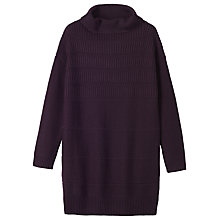 Buy Toast Ribbed Wool Tunic, Aubergine Online at johnlewis.com