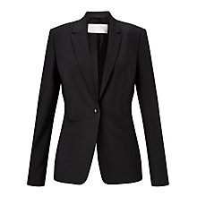 Buy BOSS Jabina Wool-Blend Blazer, Black Online at johnlewis.com
