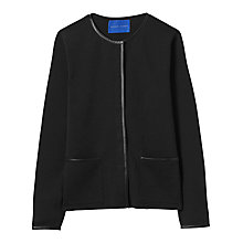 Buy Winser London Merino Wool Leather Trim Jacket, Black Online at johnlewis.com
