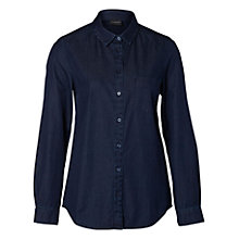 Buy Selected Femme Selma Denim Shirt, Dark Blue Online at johnlewis.com