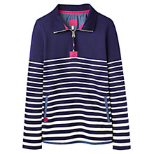 Buy Joules Southwold Half-Zip Funnel Neck Sweatshirt, Navy Stripe Online at johnlewis.com