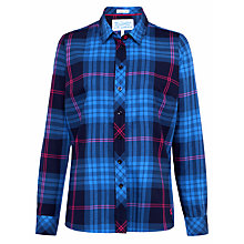 Buy Joules Cheska Semi-Fitted Check Shirt, Navy Online at johnlewis.com