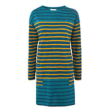 Buy Toast Slub Stripe Tunic, Teal/Gold Online at johnlewis.com