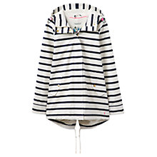 Buy Joules Drizzlington Waterproof Parka, Cream Stripe Online at johnlewis.com