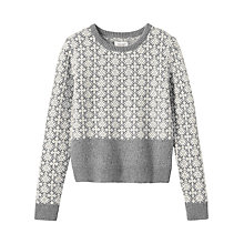Buy Toast Estonian Jacquard Jumper, Grey Melange/Bone Online at johnlewis.com