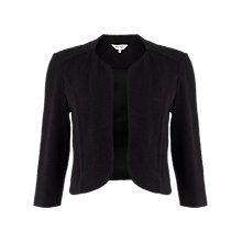 Buy Phase Eight Plain Carley Jacket, Black Online at johnlewis.com