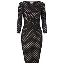 Buy Phase Eight Spot Mesh Dress, Black Online at johnlewis.com