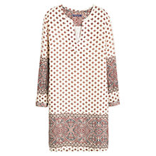 Buy Violeta by Mango Printed Dress, Natural White Online at johnlewis.com