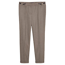 Buy Violeta by Mango Houndstooth Trousers, Medium Yellow Online at johnlewis.com