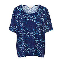 Buy Windsmoor Animal Print Jersey Top, Turquoise/Blue Online at johnlewis.com
