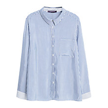 Buy Violeta by Mango Striped Shirt, Navy Online at johnlewis.com