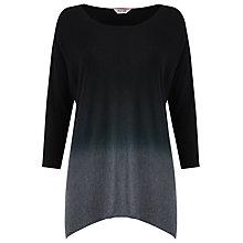 Buy Phase Eight Dip Dye Knit Jumper, Black Online at johnlewis.com