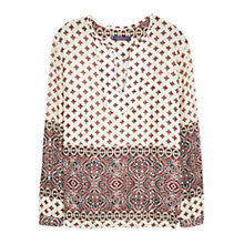 Buy Violeta by Mango Printed Blouse, Natural White Online at johnlewis.com