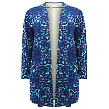 Buy Windsmoor Animal Print Jersey Jacket, Turquoise Online at johnlewis.com