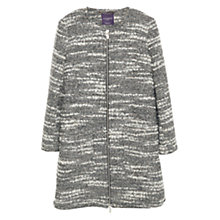 Buy Violeta by Mango Flecked Wool Coat, Medium Grey Online at johnlewis.com