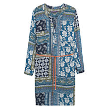 Buy Violeta by Mango Scarf Print Long Dress, Dark Blue Online at johnlewis.com