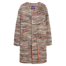 Buy Violeta by Mango Belt Wool Coat, Dark Red Online at johnlewis.com