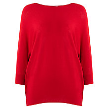 Buy Phase Eight Becca Batwing Jumper, Deep Red Online at johnlewis.com