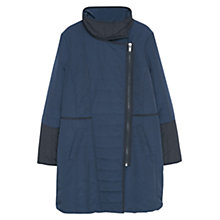 Buy Violeta by Mango Quilted Long Coat, Dark Blue Online at johnlewis.com