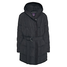 Buy Violeta by Mango Quilted Hooded Coat, Black Online at johnlewis.com