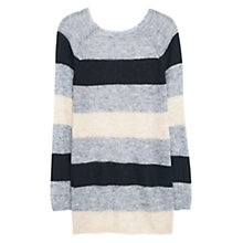 Buy Violeta by Mango Mohair Wool Blend Sweater, Grey Online at johnlewis.com