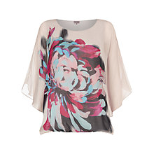 Buy Phase Eight Dorika Floral Silk Blouse, Stone/Multi Online at johnlewis.com