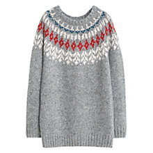 Buy Violeta by Mango Mixed Wool Blend Sweater, Grey Online at johnlewis.com