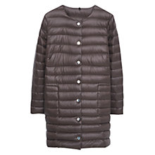Buy Violeta by Mango Quilted Feather Coat, Dark Brown Online at johnlewis.com