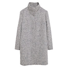 Buy Violeta by Mango Herringbone Wool Coat, Medium Grey Online at johnlewis.com