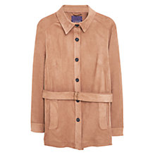 Buy Violeta by Mango Faux Suede Jacket, Dark Brown Online at johnlewis.com
