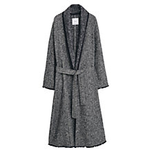 Buy Mango Jacquard Coat, Black Online at johnlewis.com