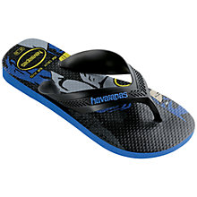Buy Havaianas Children's Batman Flip Flops, Black Online at johnlewis.com