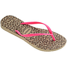 Buy Havaianas Children's Animals Flip Flops, Leopard Print Online at johnlewis.com