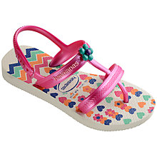 Buy Havaianas Children's Joy Spring Flip Flops, Multi Online at johnlewis.com