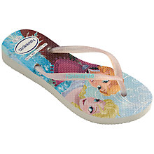 Buy Havaianas Children's Frozen Flip Flops, Blue/Multi Online at johnlewis.com