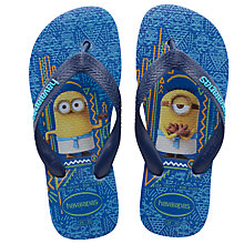 Buy Havaianas Children's Minions Flip Flops, Blue Online at johnlewis.com