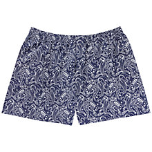 Buy Thomas Pink Montgomery Print Boxer Shorts, Navy/White Online at johnlewis.com
