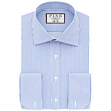 Buy Thomas Pink Grant Slim Fit Double Cuff Stripe Shirt, Pale Blue/White Online at johnlewis.com
