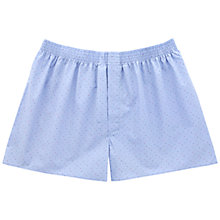 Buy Thomas Pink Wigmore Dot Boxer Shorts, Pale Blue/Multi Online at johnlewis.com