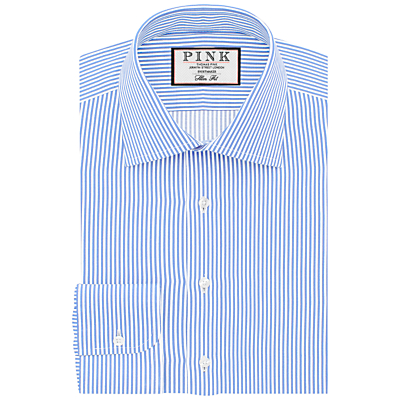 Image of Thomas Pink Grant Slim Fit XL Sleeve Stripe Shirt